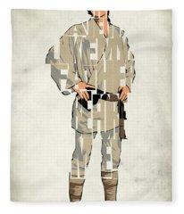 Luke Skywalker - Mark Hamill  Fleece Blanket