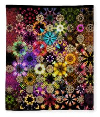 Luminiscent Kaleidoctogarden Fleece Blanket
