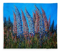 Lupins - Study No. 1 Fleece Blanket