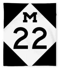 M 22 Fleece Blanket