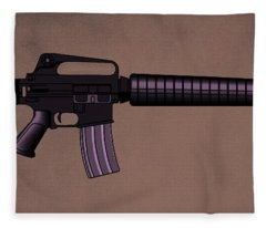 M16 Rifle A Fleece Blanket