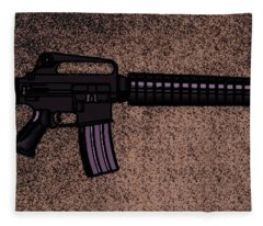 M16 Rifle C Fleece Blanket