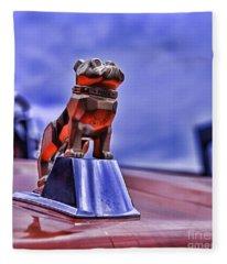 Mack The Bulldog Mascot Fleece Blanket