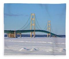 Mackinac In March Fleece Blanket