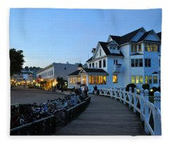 Mackinac Island At Dusk Fleece Blanket