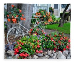 Mackinac Island Garden Fleece Blanket