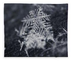 Macro Snowflake Fleece Blanket