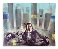 Mad Men Disintegration Of Don Draper Fleece Blanket