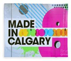 Made In Calgary Fleece Blanket