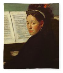 Mademoiselle Marie Dihau At The Piano Fleece Blanket