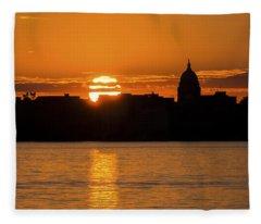 Madison Sunset Fleece Blanket