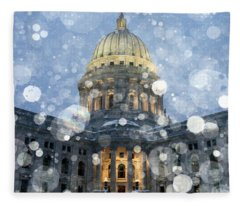 Madisonian Winter Fleece Blanket