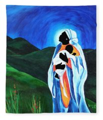 Madonna And Child  Hope For The World Fleece Blanket