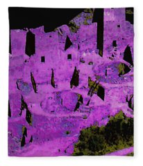 Magenta Dwelling Fleece Blanket