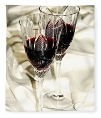 Magic Drink Of Love - Red Wine Fleece Blanket