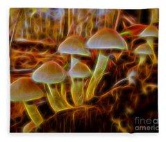 Magic Mushroom-3 Fleece Blanket