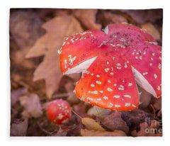 Magic Mushroom Fleece Blanket