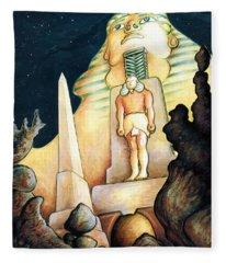 Magic Vegas Sphinx - Fantasy Art Painting Fleece Blanket