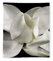Magnolia Bloom Fleece Blanket