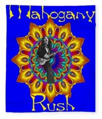 Mahogany Rush Art 1 Fleece Blanket