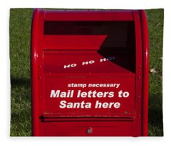 Mail Letters To Santa Here Fleece Blanket