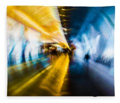 Main Access Tunnel Nyryx Station Fleece Blanket