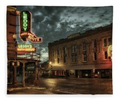 Main And Exchange Fleece Blanket