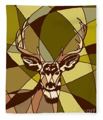Majestic Mule Deer Buck Fleece Blanket