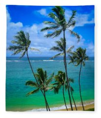 Majestic Palm Trees Fleece Blanket