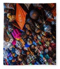 Marrakech Lanterns Fleece Blanket