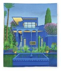 Majorelle Gardens, Marrakech Fleece Blanket
