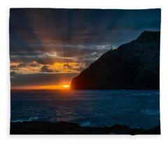 Makapuu Sunrise Fleece Blanket