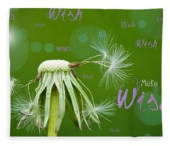 Make A Wish Card Fleece Blanket