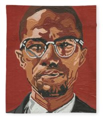 Malcolm X Fleece Blanket