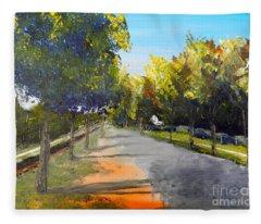 Maldon Victoria Australia Fleece Blanket