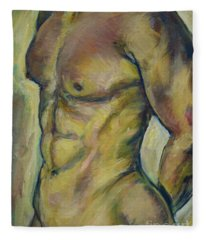 Nude Male Torso Fleece Blanket