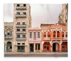 Malecon In Havana Fleece Blanket