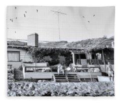 Malibu Beach House - 1960 Fleece Blanket