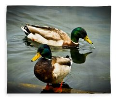 Mallards On Mendota Fleece Blanket