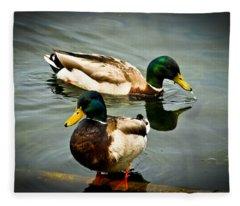 Mallards On Mendota Fleece Blanket