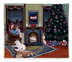Mallory Christmas Fleece Blanket