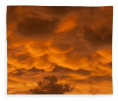 Mammatus Clouds Fleece Blanket