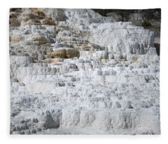 Mammoth Hotsprings 3 Fleece Blanket