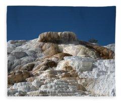 Mammoth Hotsprings 4 Fleece Blanket