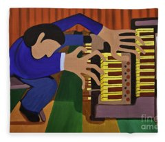 The Organist Fleece Blanket
