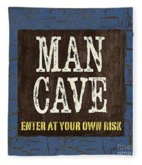 Man Cave Enter At Your Own Risk Fleece Blanket