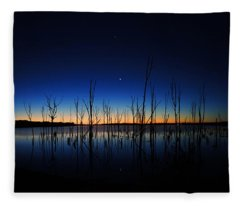 Manasquan Reservoir At Dawn Fleece Blanket