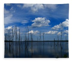 Manasquan Reservoir Panorama Fleece Blanket