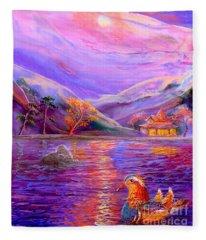 Mandarin Ducks Fleece Blankets