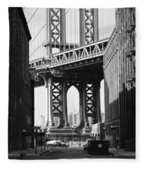 Manhattan Bridge Fleece Blanket
